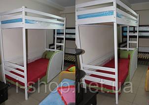 """Двухъярусная кровать-чердак """"Трансформер"""" 80/200 белый, фото 3"""