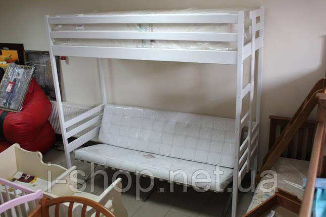 """Двухъярусная кровать-чердак """"Трансформер"""" 80/200 белый, фото 2"""