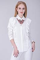 Стильная блузка с оборками