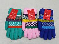Детские перчатки зимние с мехом M