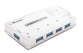Концентратор USB3.0 Viewcon VE323 White 4хUSB3.0