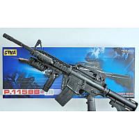 Автомат детский 1158B, винтовка М16 c пульками, лазер, фонарик, игрушечное оружие, автомат игрушечный