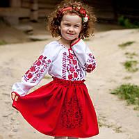 """Вышитый костюм """" Розочки"""" для девочки 3- 6 года"""