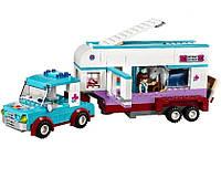 """Конструктор Bela """"Friends"""" (10561) Ветеринарная машина для лошадок, 387 деталей KK"""