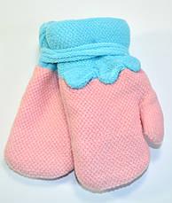 Детские трикотажные варежки для девочки  - длина 12 см, фото 3
