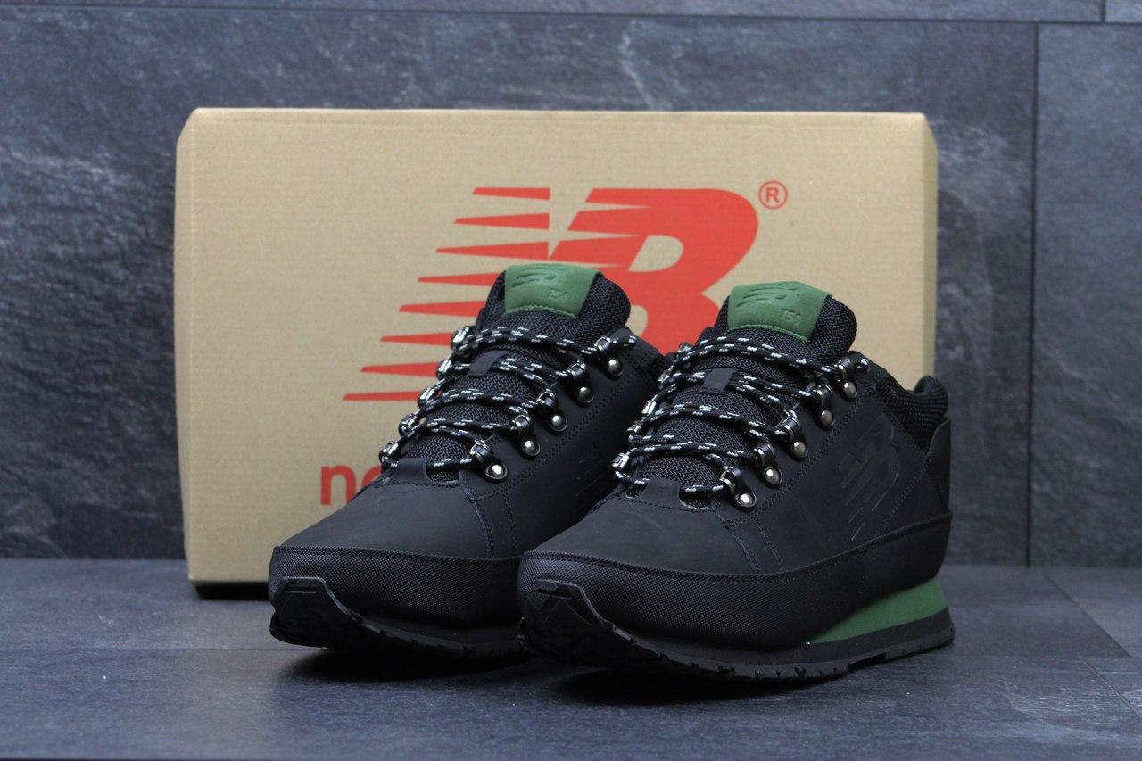 Мужские кроссовки New Balance 574 зимние,черные с зеленым 46р -  Интернет-магазин Дом 587387c784a