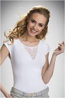 Блузка, кофточка женская черная белая без рукавов Eldar Bela 2017 офисная деловая одежда