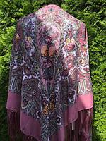 Хустина платок жіночий з орнаментом 140*140 см