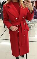 Пальто женское кашемировое на подкладке
