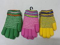 S Детские зимние перчатки шерстяные мохровые