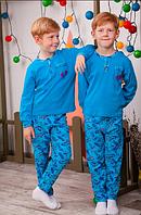 Пижама детская ,интерлок набивной,р.26,28,30,32,34