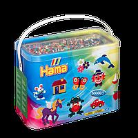 Термомозаика Набор цветных бусин Midi, 30.000 шт, 22 цвета, Hama