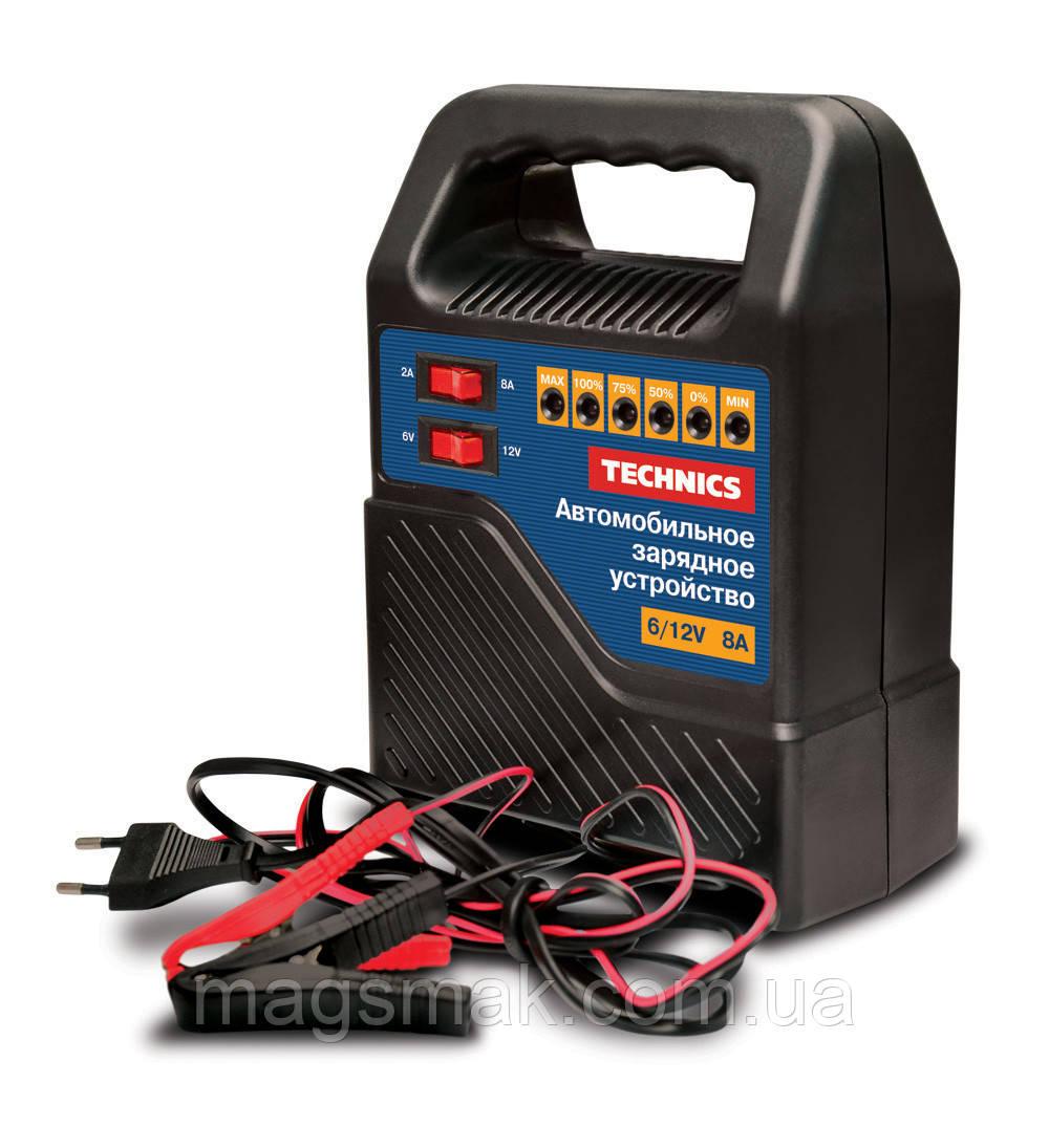 Автомобильное зарядное устройство 108Вт, 220В, выходное напряжение: 6/12 В, выходной ток: 5,6-8 A, для АКБ 40-100 Ач