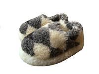 Тапочки из овчины короткие