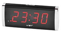 Часы сетевые 730-1 красные LO