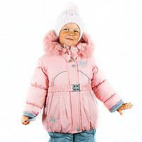 Детские зимние термо комбинезоны для девочек р.86-110 до -20 мороза на наши зимы Снежинка нежно-розовая 2017