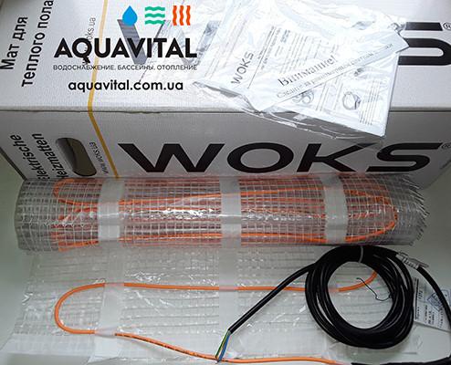 Нагревательный двужильный мат WoksMat 160 (160 Вт) площадь обогрева 1,0 м²