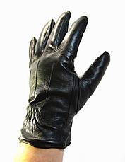 Мужские кожаные перчатки  на меху кролика, фото 3
