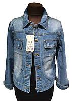 Куртка джинсовая женская 7126 нашивка (деми)