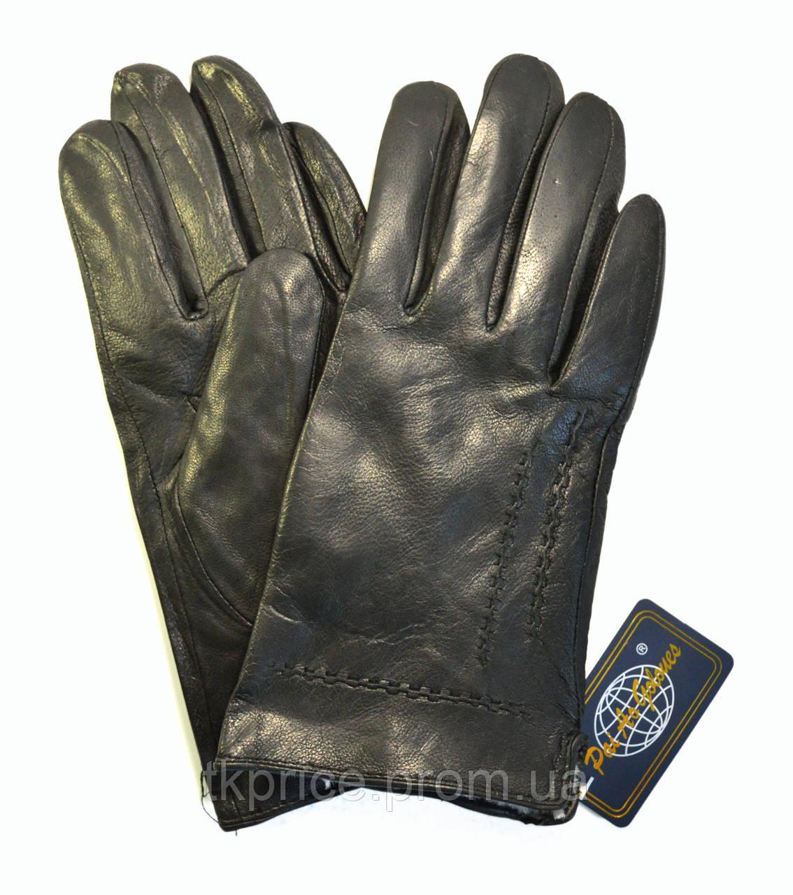 Чоловічі шкіряні рукавички на хутрі кролика