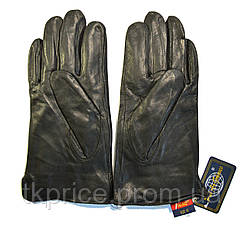 Чоловічі шкіряні рукавички на хутрі кролика, фото 2