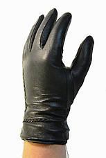Чоловічі шкіряні рукавички на хутрі кролика, фото 3