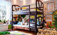 Кровать двухъярусная Виктория 190*80 ольха ЧДК