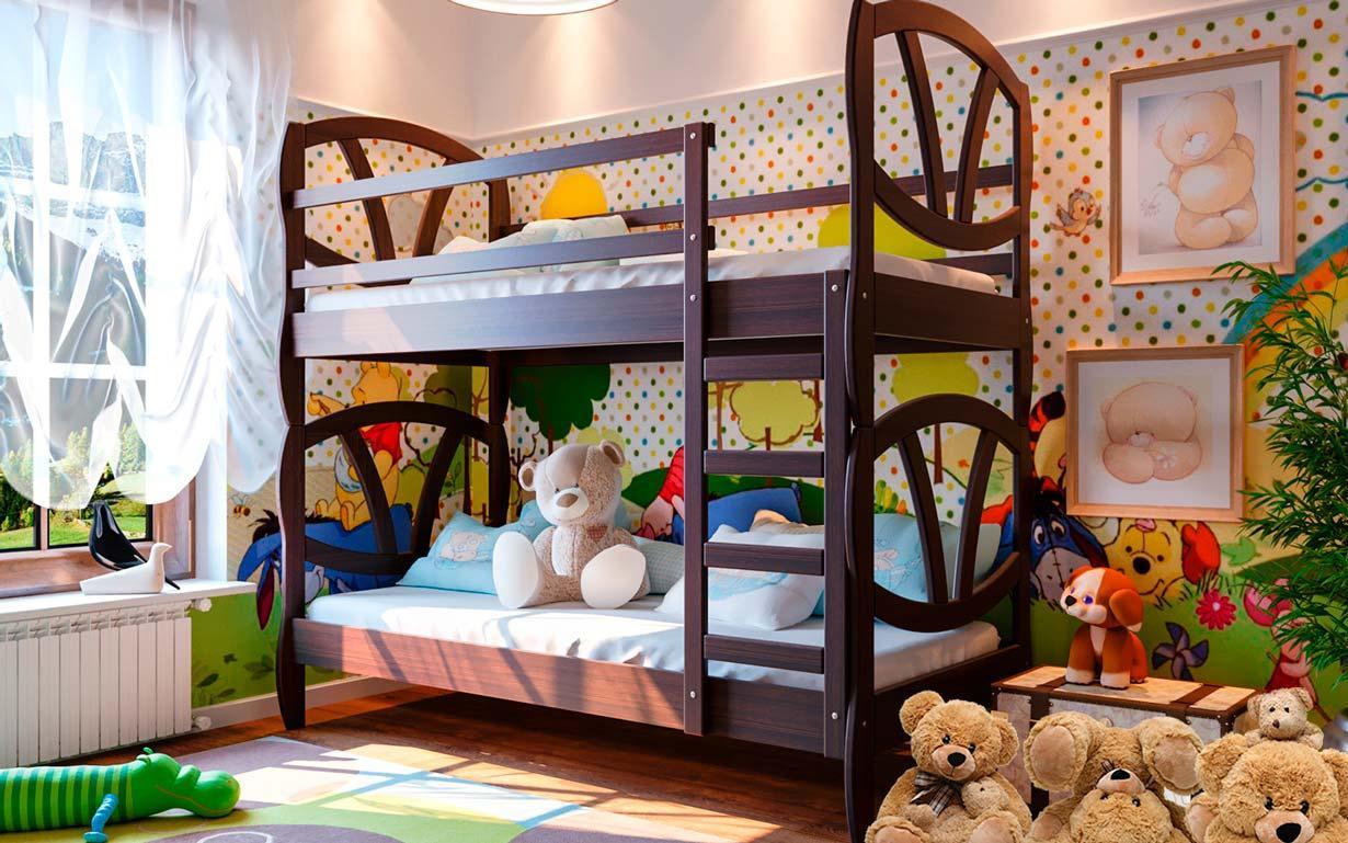 Кровать двухъярусная Виктория 190*80 ольха ЧДК - АРТИ мебель в Мелитополе