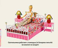Мебель для кукол Gloria 9314 Cпальня с светильниками