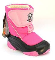Удобные розовые ботинки для девочек Demar Doggy  22-23 (14.5 cm)