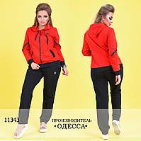 Спортивный костюм 751красный +черный  R-11343