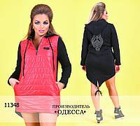 Платье-туника СОВА R-11348 черный+красный