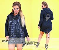 Платье-туника СОВА R-11350 темно-синий