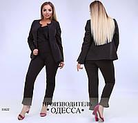 Брючный костюм 140 черный Двойка R-11622