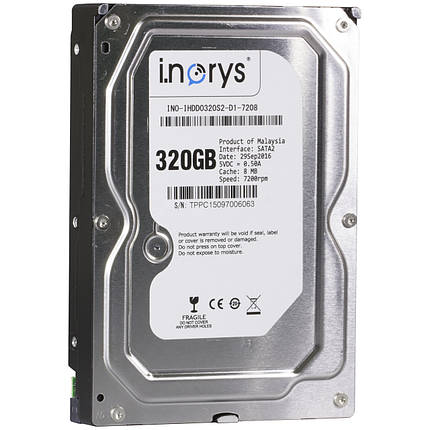 ➘Жесткий диск i.norys 320GB 7200rpm 8MB (INO-IHDD0320S2-D1-7208) HDD SATA II быстрый игровой, фото 2