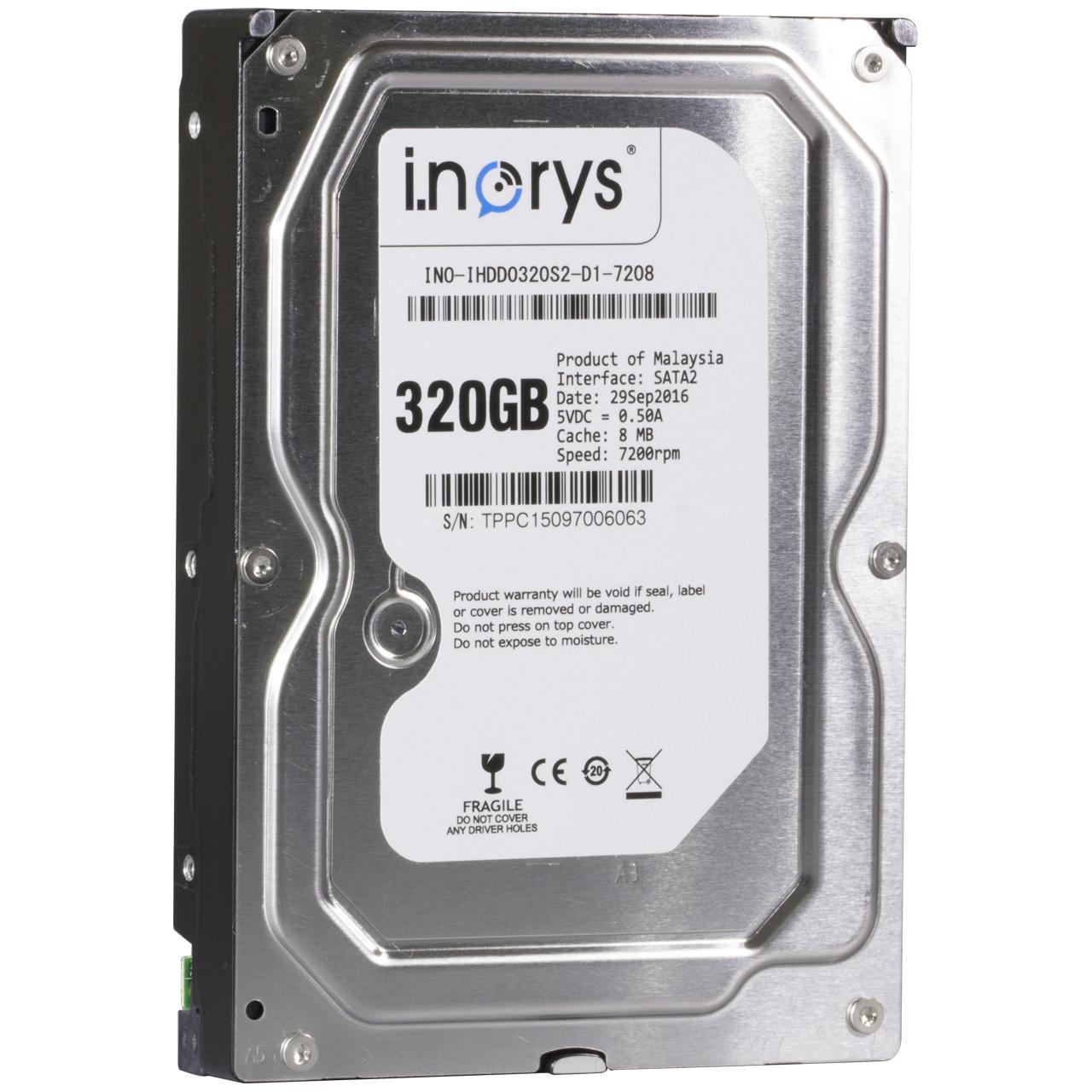 ➘Жесткий диск i.norys 320GB 7200rpm 8MB (INO-IHDD0320S2-D1-7208) HDD SATA II быстрый игровой