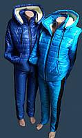 Спортивные женские костюмы зимние на меху с 44 по 50р.