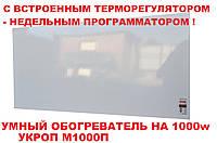 УКРОП МЕТАЛИК 1000 инфракрасная панель - обогреватель с терморегулятором (комплект) эл. терморегулятор+ программатор