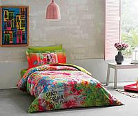 Разноцветный комплект постельного белья Tivolyo Home Magic полуторный