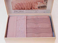 Набор постельного белья Gelin Home Anna Triko Set Лиловый евро 200х240