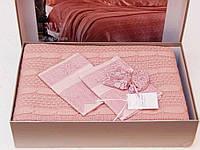 Комплект постельного белья Gelin Home Erguvan Triko Set Розовый евро 220х240