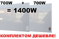 Электрообогревательная панель УКРОП Металик 1400 с терморегулятором (комплект)