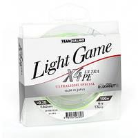 Жилка плетена Team Salmo LIGHT GAME FINE GREEN X4 UltraPE 100/0,042(0,25#)  (інд.уп/ *6) (5014-004)