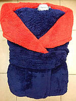 Халат махровый микрофибра подросток 8-10 лет 140см 2