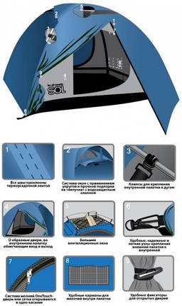 Двухместная палатка Tourist Sol SLT-004.06, фото 2