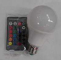 Светодиодная лампа Lemanso LM734 E27 5W  RGB