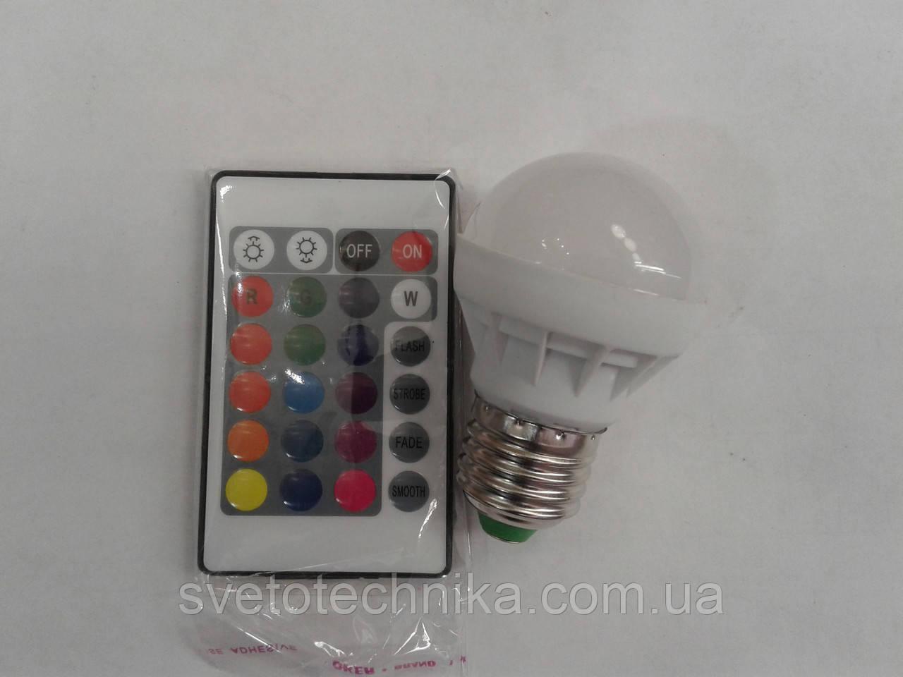 Светодиодная лампа Lemanso LM736 E27 3W  RGB