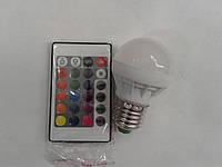 Светодиодная лампа Lemanso LM734 E27 3W  RGB