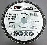 Пила циркулярная Parkside (210x30x2,6 mm), 40 зубьев, по дереву (Германия) (7678.3)