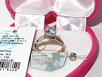 Золотое кольцо с камнем Сваровски 80431-СВ, фото 1